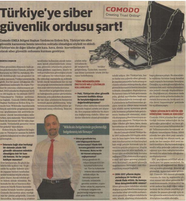 Dünya Gazetesi Erdem Eriş_18012016